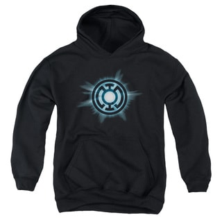 Green Lantern/Blue Lantern Corps Youth's Cotton/Polyester Black Pullover Hoodie