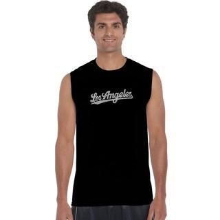 LA Pop Art Men's Los Angeles Neighborhoods Sleeveless T-shirt