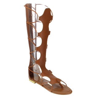 Beston Dc05 Flat Knee High Gladiator Sandals