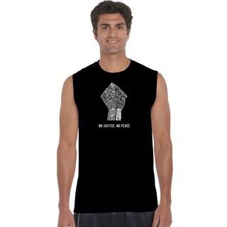 Men's No Justice, No Peace Cotton Sleeveless T-shirt