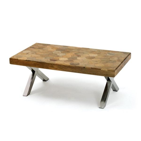 Shop Hexagon Coffee Table Free Shipping Today Overstockcom - Hexagon wood coffee table