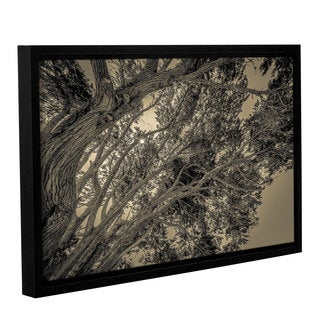 Richard James's 'Leaning Wood' Gallery Wrapped Floater-framed Canvas