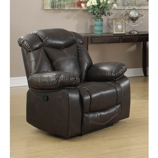 Walter Dark Brown Air Leather Living Room Rocking Reclining Chair