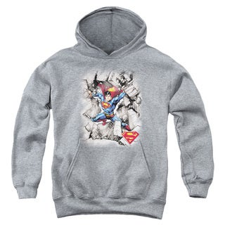 Youth Superman/Break Through Athletic Heather Pullover Hoodie