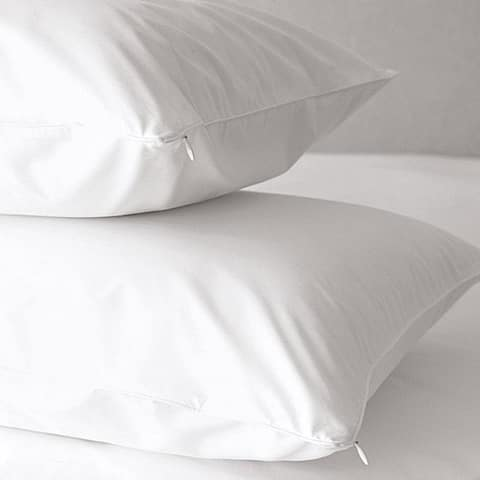 OSleep 300 Thread Count Cotton Hypoallergenic White Pillow Protector (Set of 8)