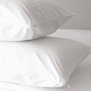 Hotel Collection 300 Thread Count Cotton Hypoallergenic Pillow Protectors (Set of 8) - White