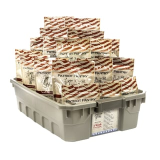 4-week Emergency Food Supply, 25-year Shelf Life, 140 Adult Servings for Long-Term Storage