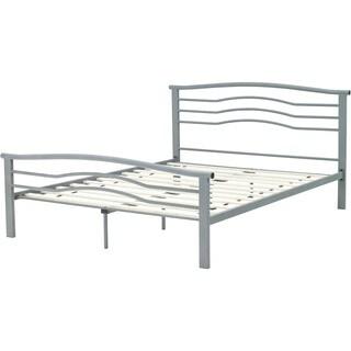 Hanover Midtown Nickel Silver Metal Full Platform Bed
