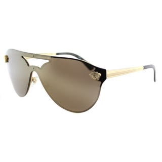 Versace VE 2161 1002F9 Gold Metal Aviator Gold Mirror Lens Sunglasses