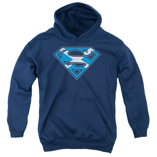Superman 'Scottish Shield' Navy Cotton-blended Youth Pullover Hoodie