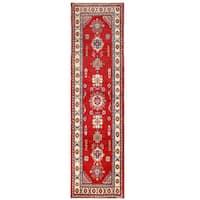 Handmade Herat Oriental Afghan Kazak Wool Runner (Afghanistan) - 2'7 x 9'10