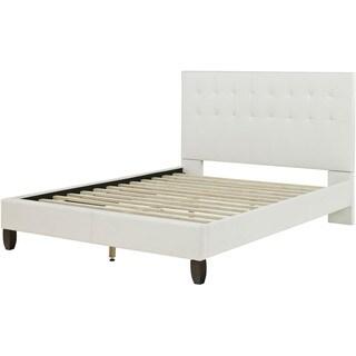 Hanover London White Metal Full Platform Bed