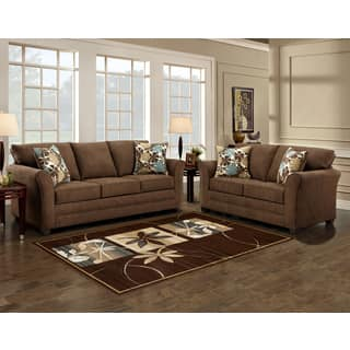 microfiber living room sets. Sofa Trendz Brooklyn Brown Microfiber and Love Seat Living Room Furniture Sets For Less  Overstock com