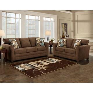 Sofa Trendz Brooklyn Brown Microfiber Sofa And Love Seat Part 48