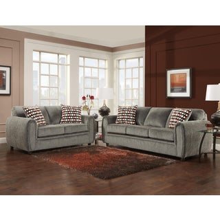 Sofa Trendz Breanna Grey Microfiber 2-piece Sofa Set