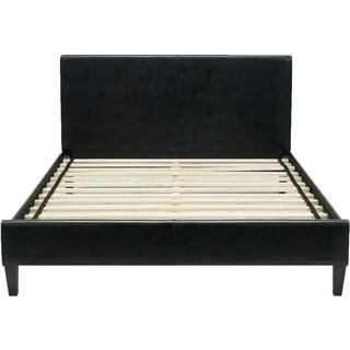 Hanover Downtown Black Leather Full Platform Bed