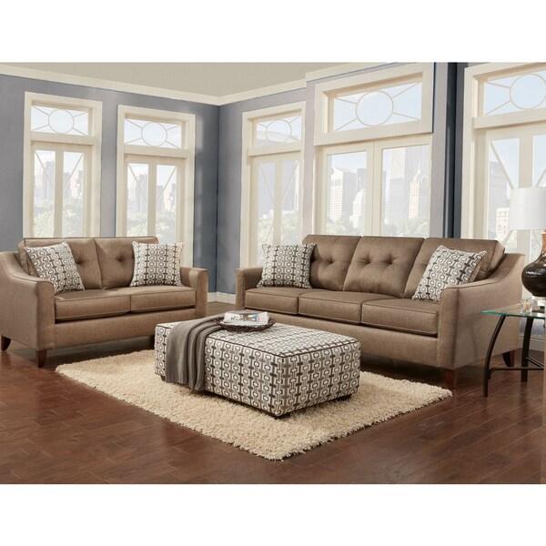 Shop Sofa Trendz Brynn Wheat Polyester Blend Fabric 3