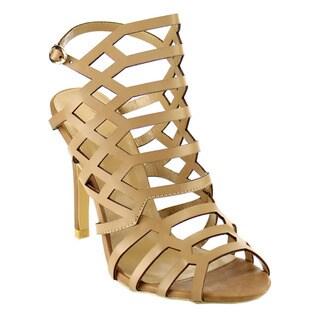 Beston Women's Caged Heels