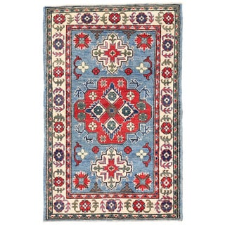 Herat Oriental Afghan Hand-knotted Kazak Wool Rug (2'9 x 4'4)