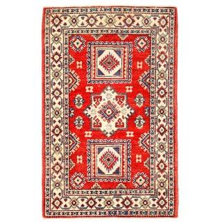 Herat Oriental Afghan Hand-knotted Kazak Wool Rug (2'6 x 3'11)