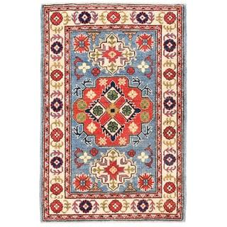 Herat Oriental Afghan Hand-knotted Kazak Wool Rug (2'8 x 3'11)