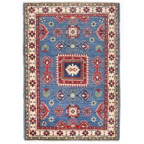 Handmade One-of-a-Kind Kazak Wool Rug (Afghanistan) - 2'8 x 3'10
