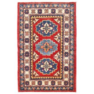 Herat Oriental Afghan Hand-knotted Kazak Wool Rug (2'9 x 4'3)
