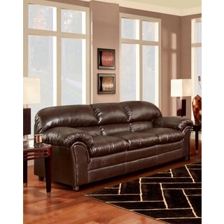 SOFA TRENDZ Browning Chocolate Bonded Leather Sofa