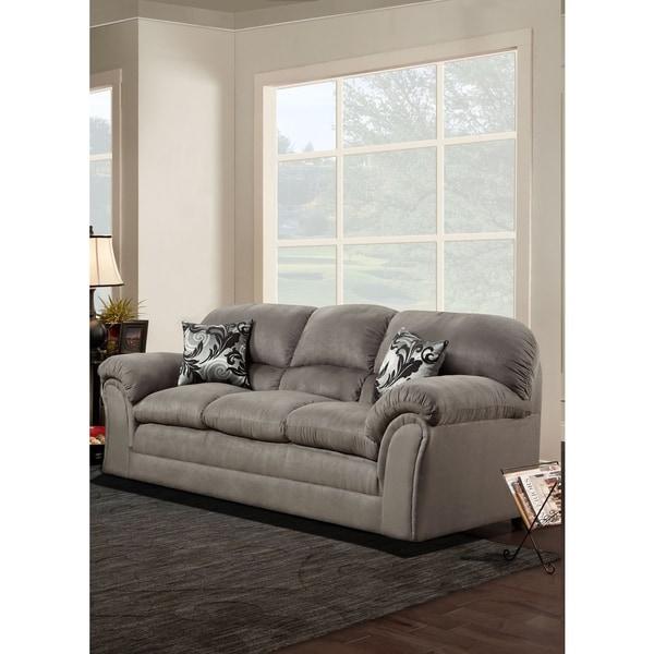 Sofa Trendz Dolphine \'Bradley\' Grey Microfiber Sofa
