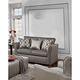 Sofa Trendz Brice Grey Chenille Loveseat
