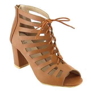 Bella Marie Women's Chunky Heel Sandals