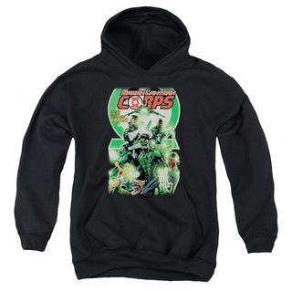 Green Lantern/GI Corps #25 Cover Black Youth Pull-Over Hoodie