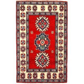 Herat Oriental Afghan Hand-knotted Kazak Wool Rug (2'8 x 4'4)