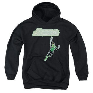 Green Lantern/Energy Construct Logo Youth Pull-Over Hoodie in Black