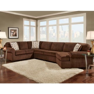 Sofa Trendz Brayden Chocolate Microfiber Sectional