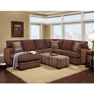 Sofa Trendz Belize Brown Microfiber Sectional