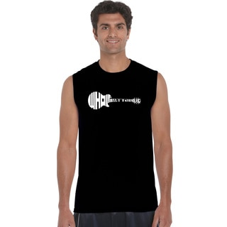 Men's Black Cotton Sleeveless Whole Lotta Love T-shirt