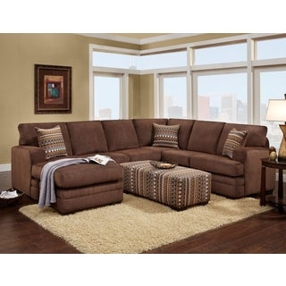 SOFA TRENDZ Belize Microfiber Sectional and Ottoman Set