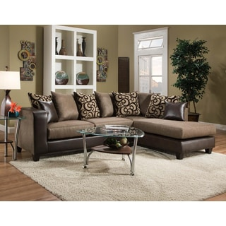 Espresso Leather Sectional Set - Free Shipping Today - Overstock ...