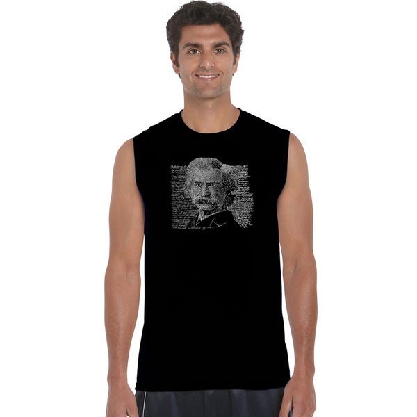 b23ac271 Shop Men's Mark Twain Sleeveless T-shirt - On Sale - Free Shipping ...