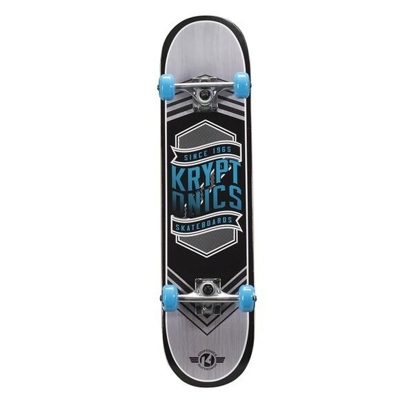 Kryptonics Drop-In Series Blue or Pink PVC 31x7.5-inch Complete Skateboard