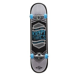 Kryptonics Drop-In Series Blue or Pink PVC 31x7.5-inch Complete Skateboard