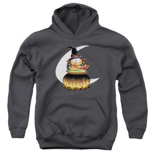 Youth Garfield/Stir The Pot Charcoal Pullover Hoodie