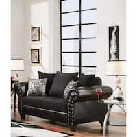 Sofa Trendz Quincy Black Loveseat