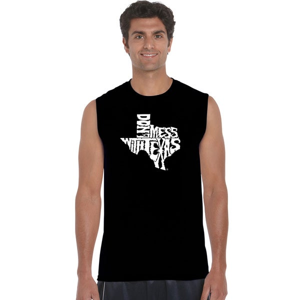 31866a45 LA Pop Art Men's Don't Mess With Texas Sleeveless T-shirt - Free Shipping  On Orders Over $45 - Overstock.com - 18740576