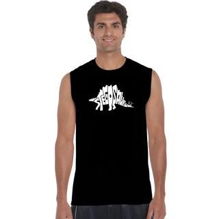 Men's Sleeveless Stegosaurus Cotton T-shirt