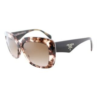 Prada PR 03QS ROJ0A6 Pink Havana Plastic Square Brown Gradient Lens Sunglasses