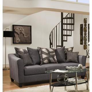 Sofa Trendz Angelo Grey Microfiber Sofa