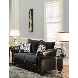 Sofa Trendz Black May Love Seat