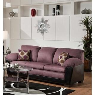 Sofa Trendz Anita Eggplant Microfiber/Polyurethane Sofa